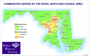 service map of rural maryland